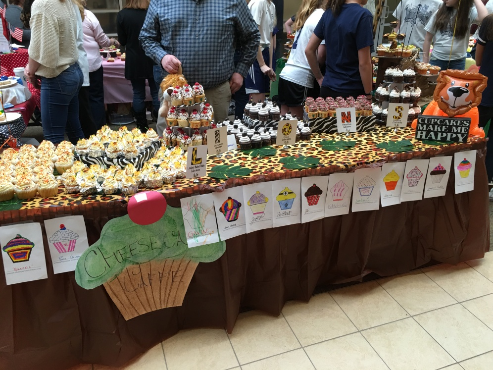 Cheesecake Caffe's Table at Lions Cubcake Wars March 2016