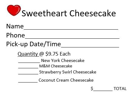 Sweetheart Cheesecakes