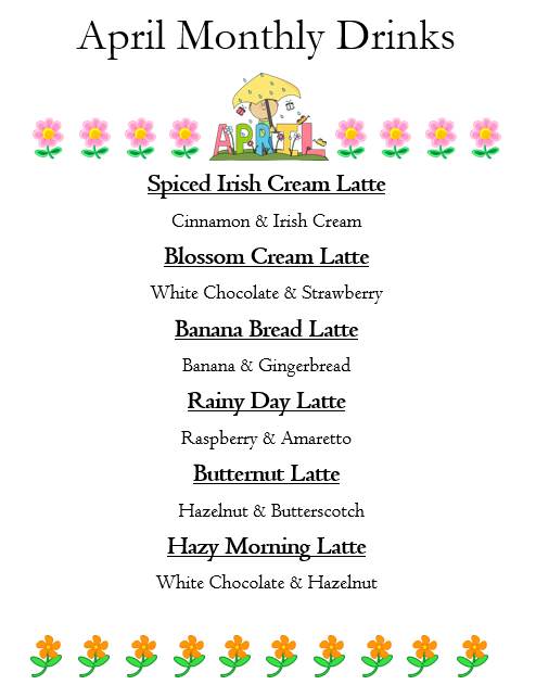 April Monthly Lattes