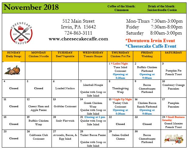 November 18 Specials