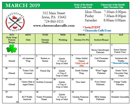 March 2019 specials