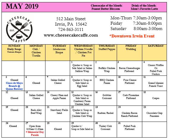 May 19 specials